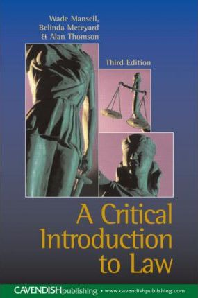 Critical Introduction to Law