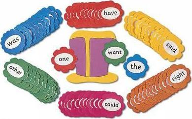 Jolly Phonics Tricky Word Wall Flowers by Sue Lloyd