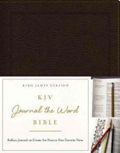 KJV, Journal the Word Bible, Bonded Leather, Brown, Red Letter Edition