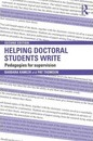 Helping Doctoral Students Write