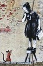 Banksy Girl on Stool